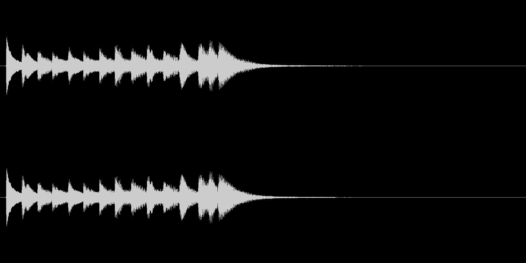 和風効果音 琴3の未再生の波形