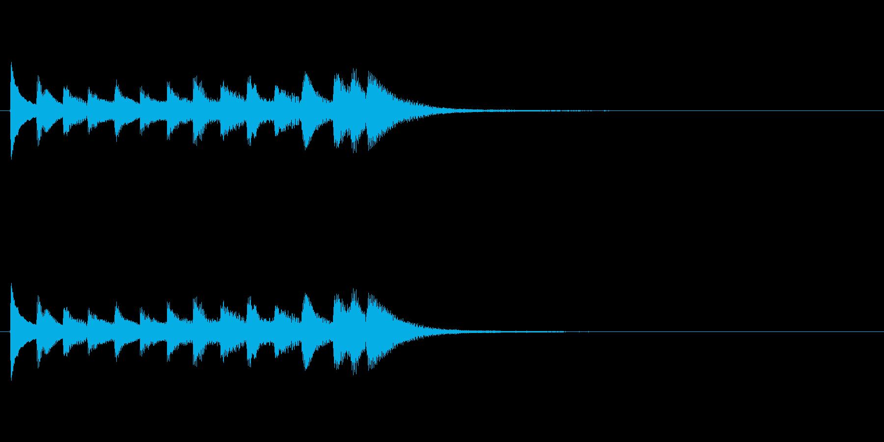 和風効果音 琴3の再生済みの波形