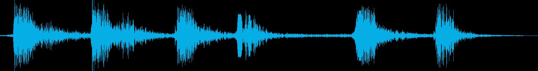 犬のbarえの再生済みの波形