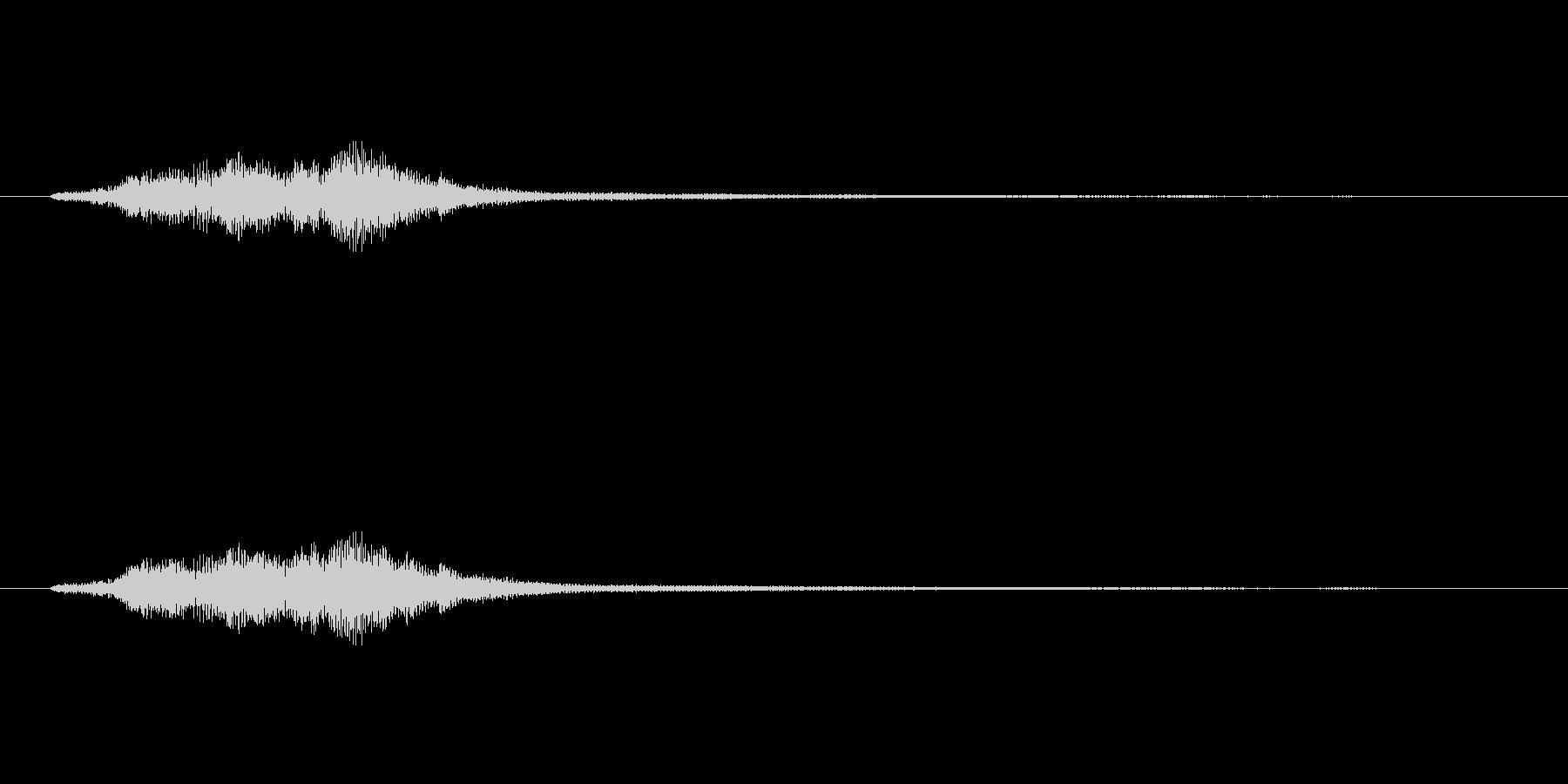 ハープグリッサンド上行3回~Fの未再生の波形