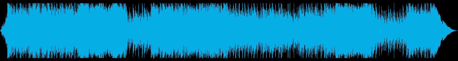 オープニングや始まりを感じさせるオケ曲の再生済みの波形