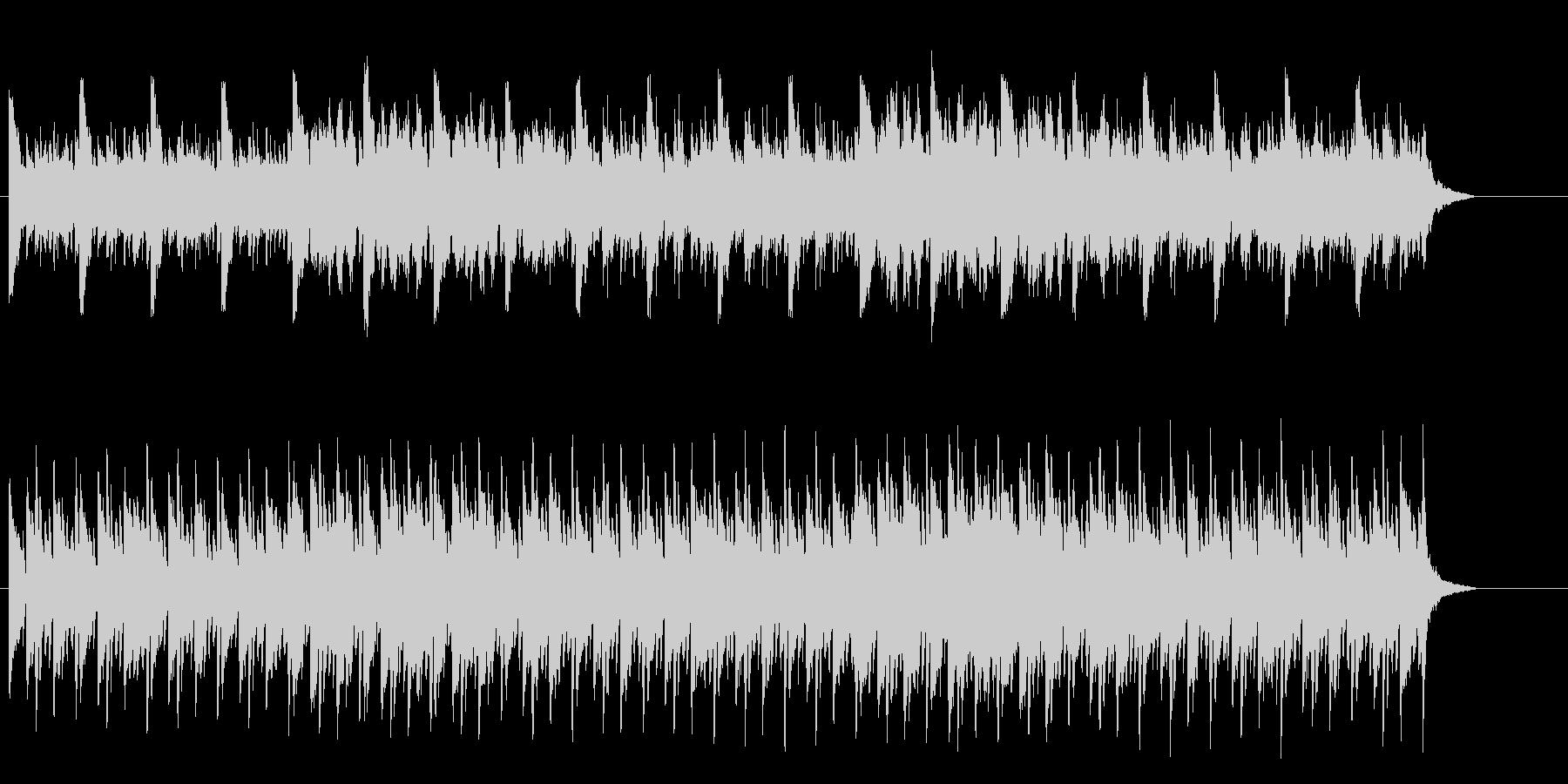 神秘的なピアノ主体のBGMの未再生の波形