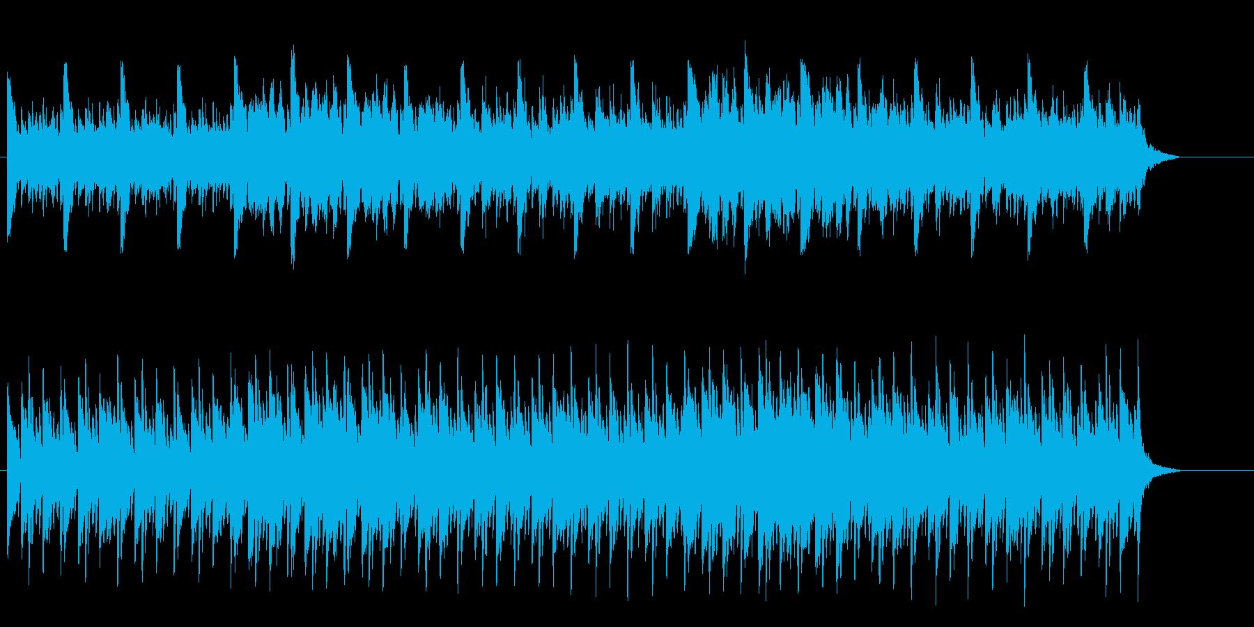 神秘的なピアノ主体のBGMの再生済みの波形
