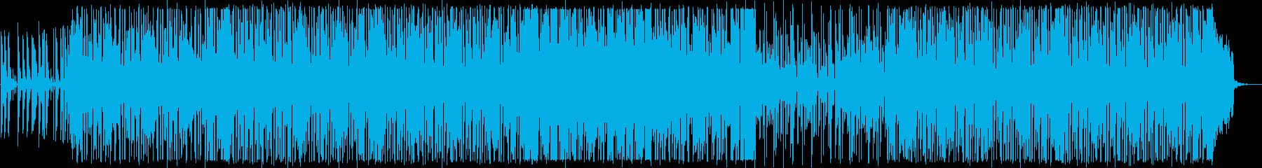 軽快なダンスディスコポップの再生済みの波形