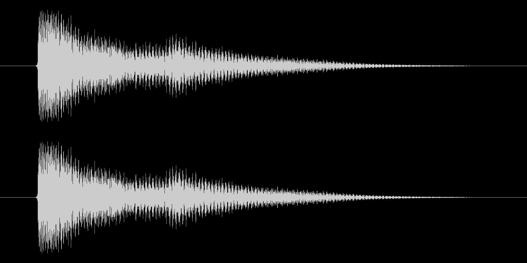 決定音、アプリ、スタートの未再生の波形