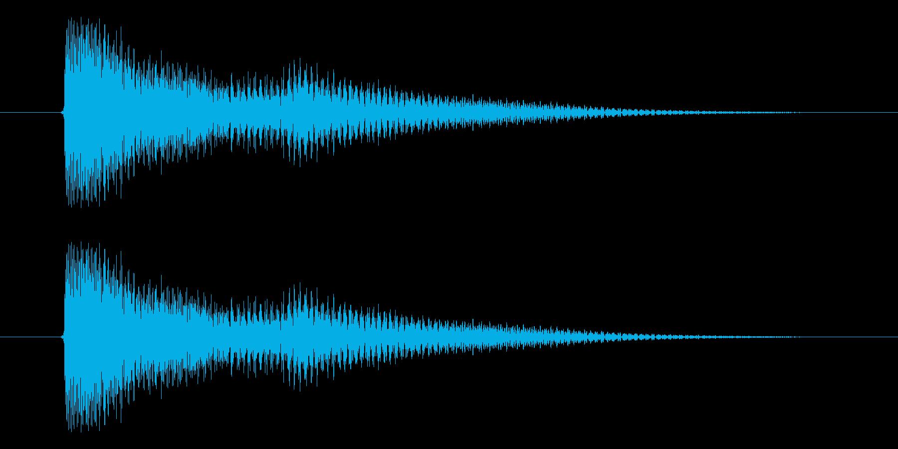 決定音、アプリ、スタートの再生済みの波形