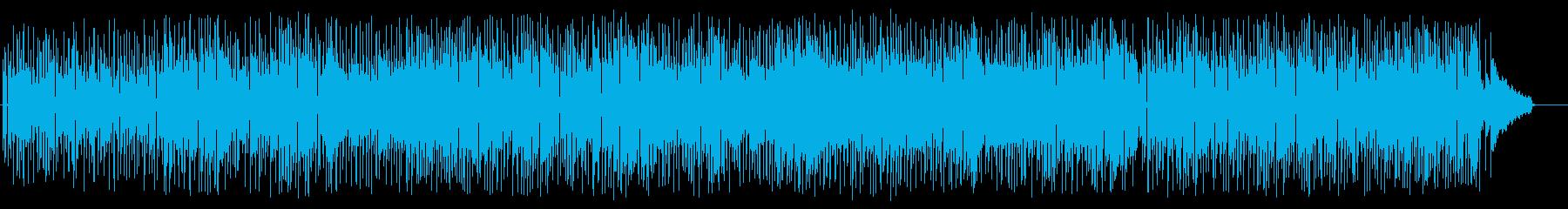 夜の雰囲気のフュージョンミュージックの再生済みの波形