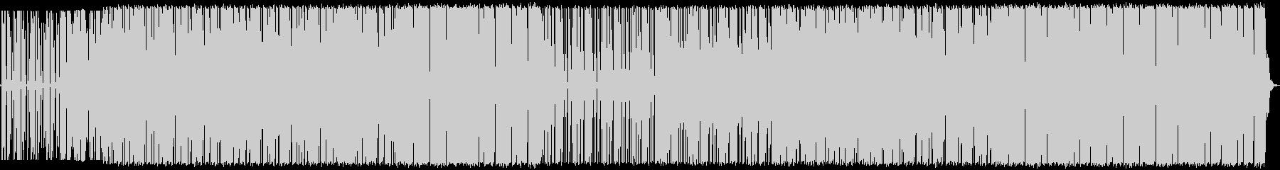 レトロなディスコサウンドBGMの未再生の波形