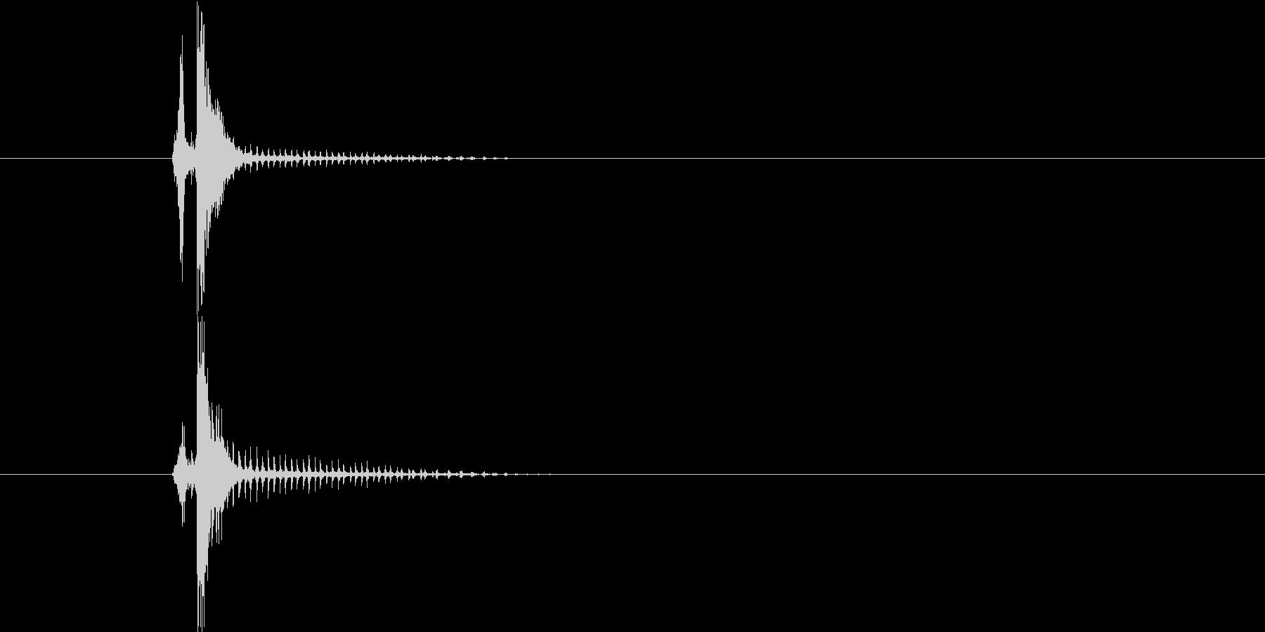 かしゃーんの未再生の波形