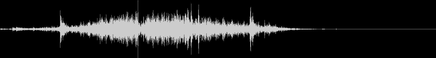 【生録音】カーテンの開閉音 2の未再生の波形