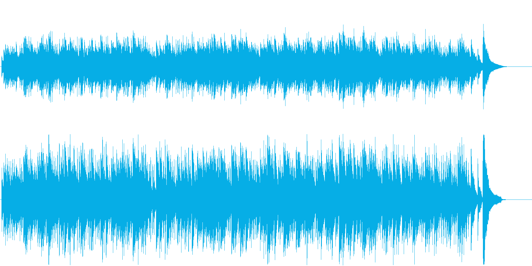 チェンバロによるバッハ風な悲しい感じの曲の再生済みの波形