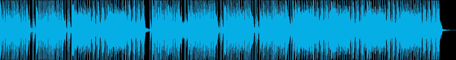軽快なリズム 8ビート曲。の再生済みの波形