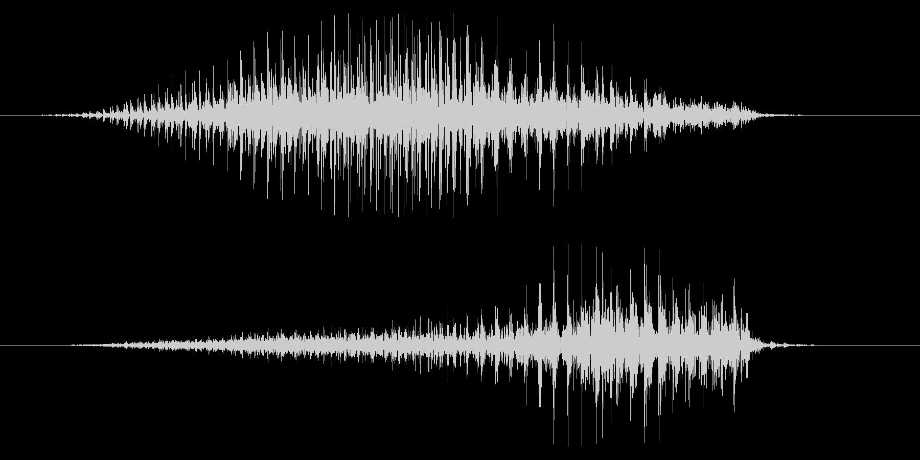スペースシェーバーのうなり声の未再生の波形