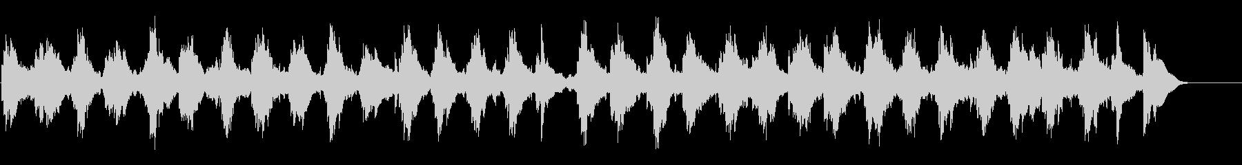 穏やかに虚しい雰囲気のBGMの未再生の波形