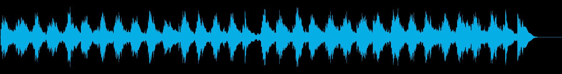 穏やかに虚しい雰囲気のBGMの再生済みの波形