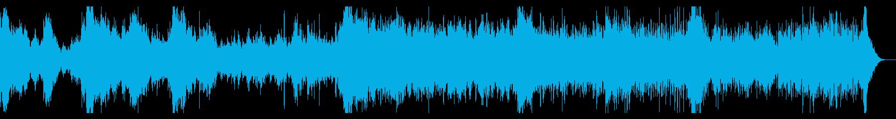 ガチャガチャしたミステリアスシネマBGMの再生済みの波形