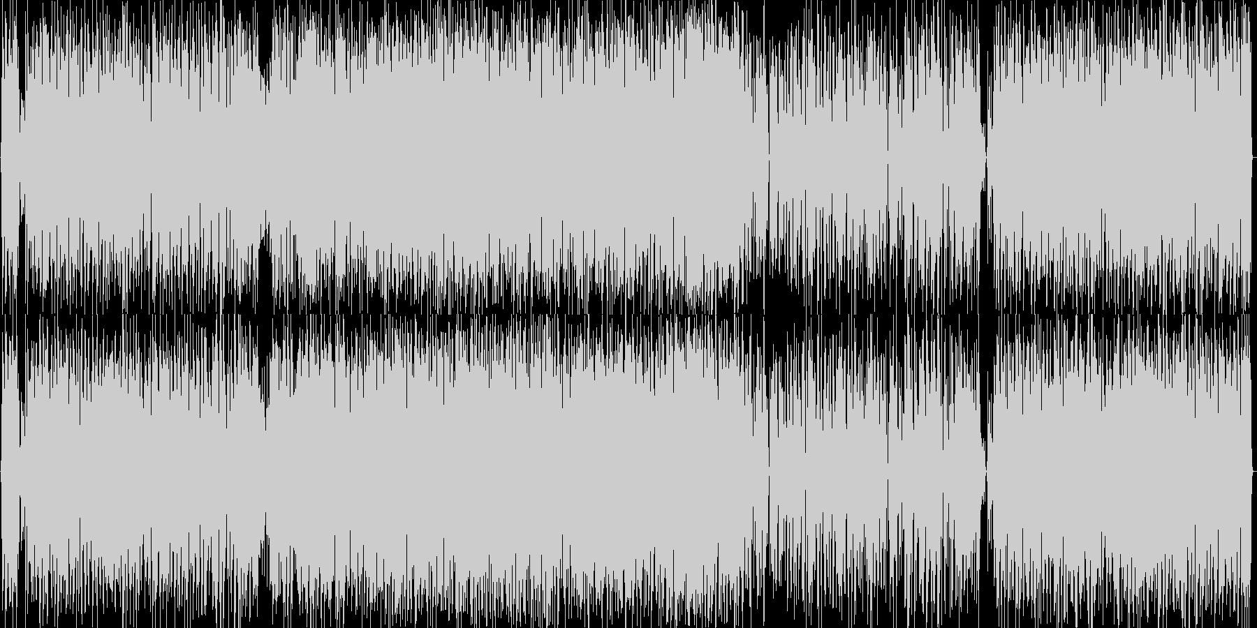 お洒落で軽快なボサノバの未再生の波形