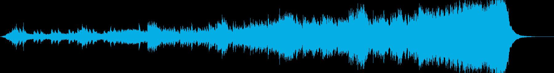 ストリングスによる緊迫感ある曲の再生済みの波形