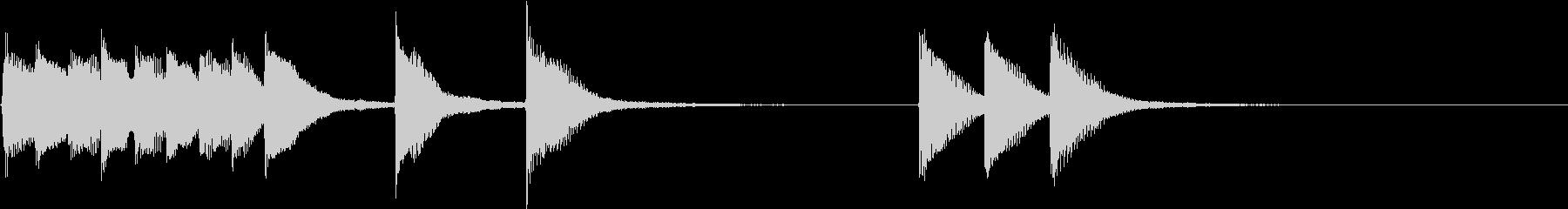 明るく かわいいピアノサウンドロゴ14の未再生の波形