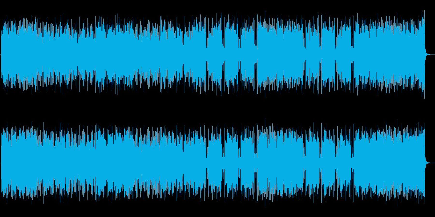 ダイナミックで疾走感のあるポップスの再生済みの波形