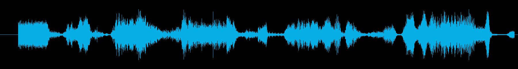 モンスター グリッチトーク07の再生済みの波形
