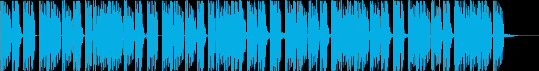 Deep bass-based electro jingle's reproduced waveform