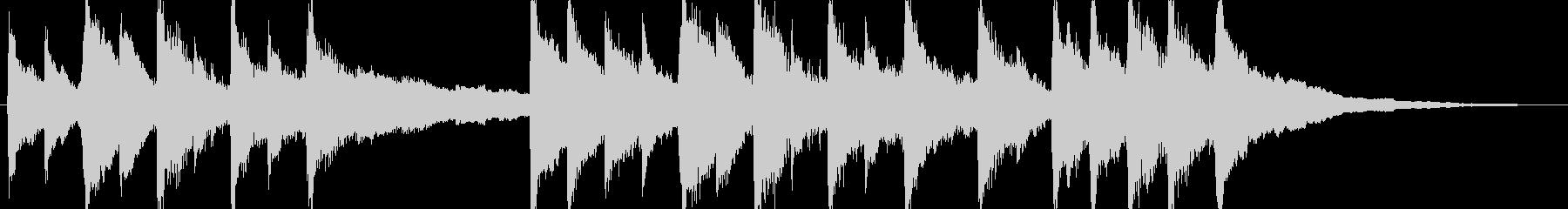 ジングル - 子守唄の未再生の波形