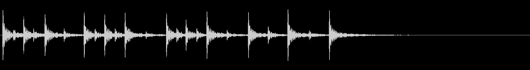 木製ブロックを叩く軽快なフレーズ音+FXの未再生の波形
