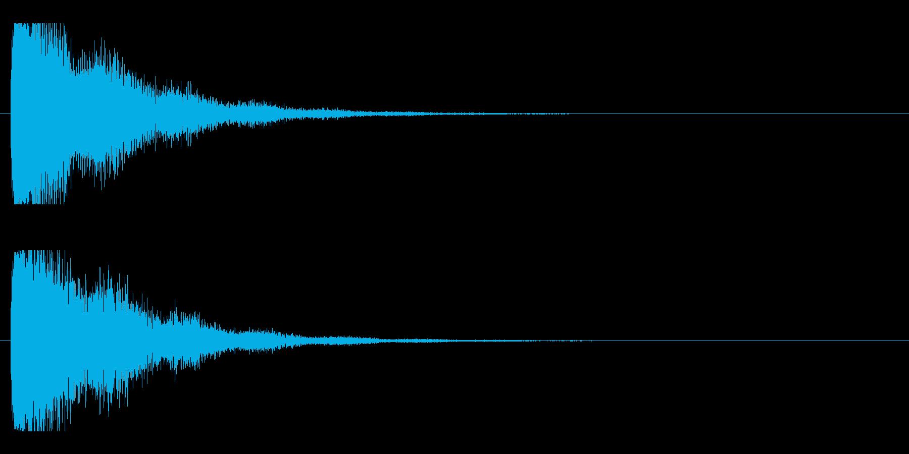 レーザー音-21-2の再生済みの波形
