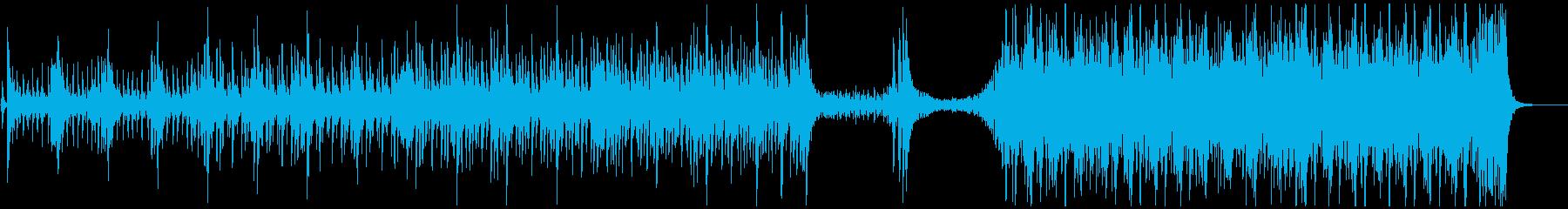 勇壮な和太鼓のアンサンブルの再生済みの波形