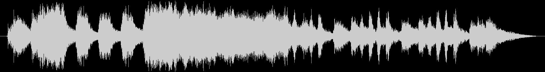 琴を使用した和風オープニング曲の未再生の波形