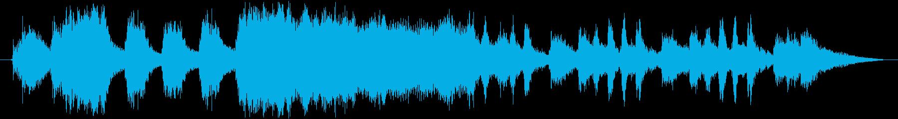 琴を使用した和風オープニング曲の再生済みの波形