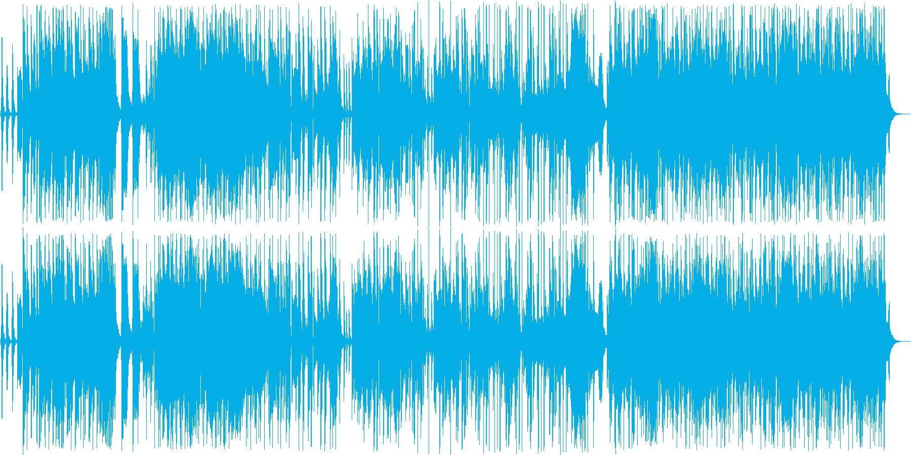 エレキがうなるスローで古風なロックの再生済みの波形