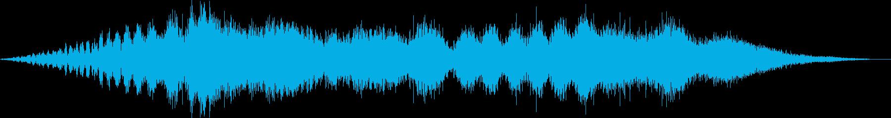 プロペラ機の離陸(滑走路の始まり)の再生済みの波形