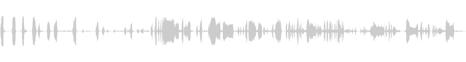 男性:拷問された悲鳴と叫び声の未再生の波形