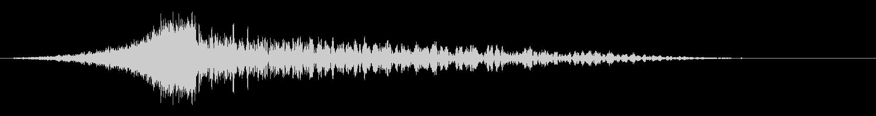 シューどん:迫力のある上昇してどんの音の未再生の波形
