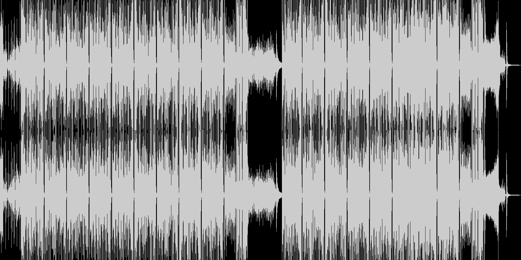 タイム制限クイズ・徐々に盛り上がる構成の未再生の波形