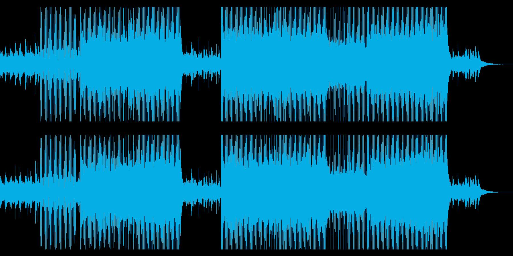 ポップで爽やかなハウス曲の再生済みの波形