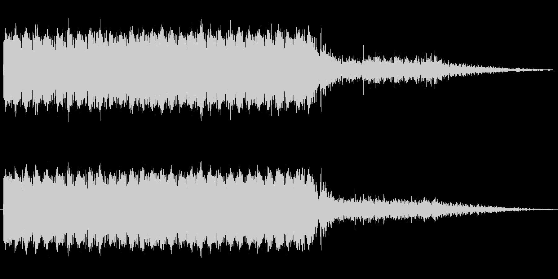 アサルトライフルの連射音の未再生の波形