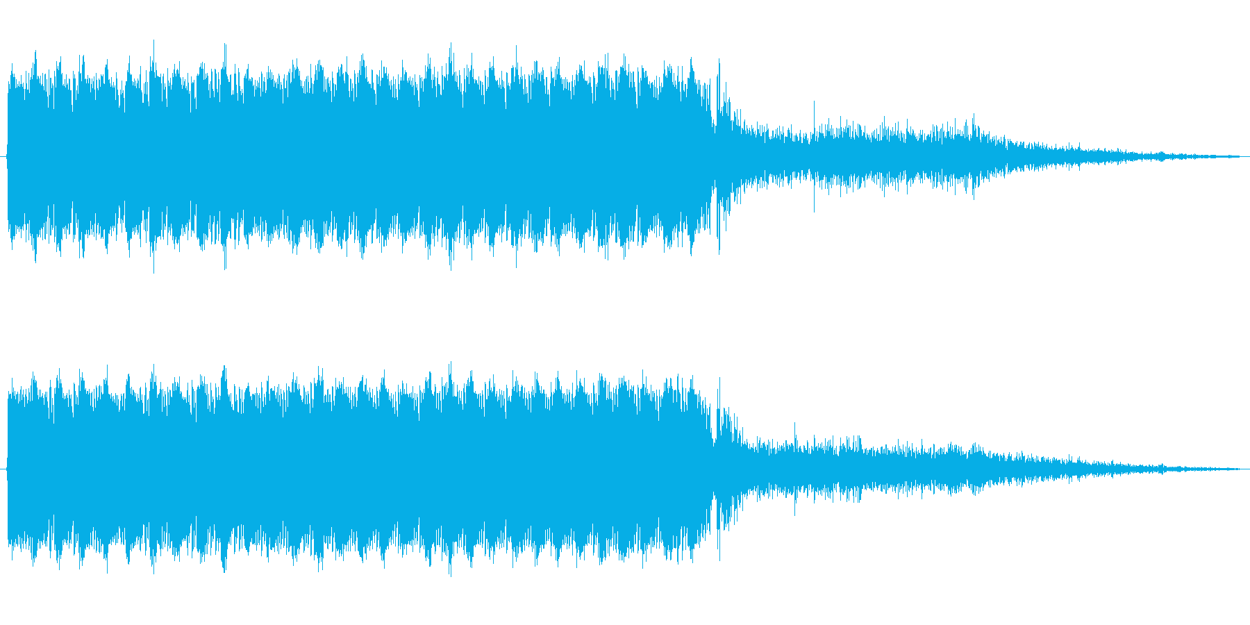アサルトライフルの連射音の再生済みの波形