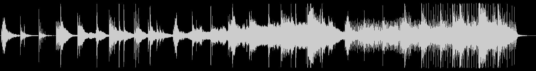 アカデミックなピアノエレクトロニカの未再生の波形