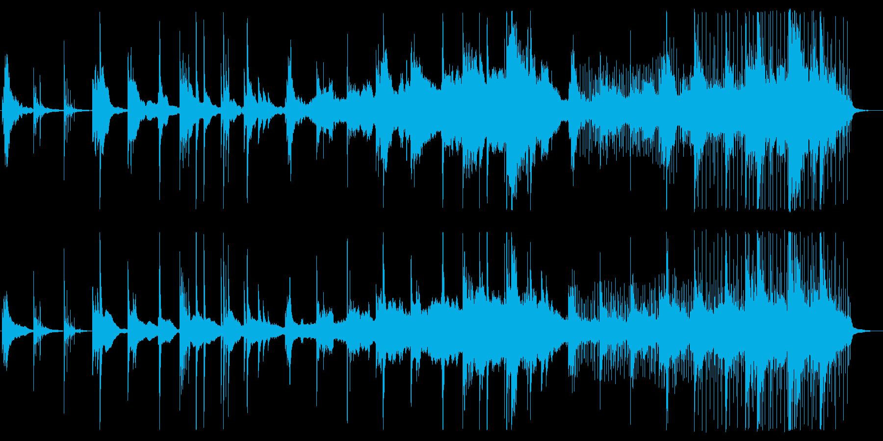 アカデミックなピアノエレクトロニカの再生済みの波形