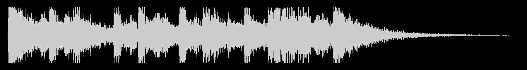 アップテンポなピアノジングルの未再生の波形