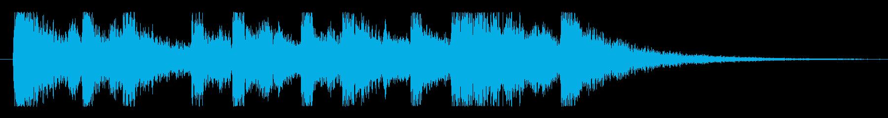アップテンポなピアノジングルの再生済みの波形