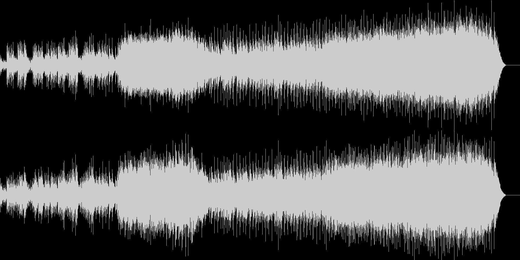 安らかなエンディング向けバラードの未再生の波形
