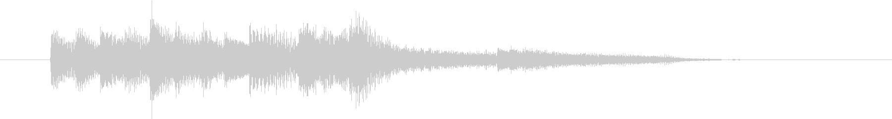 ジャジーなピアノソロ ジングル の未再生の波形