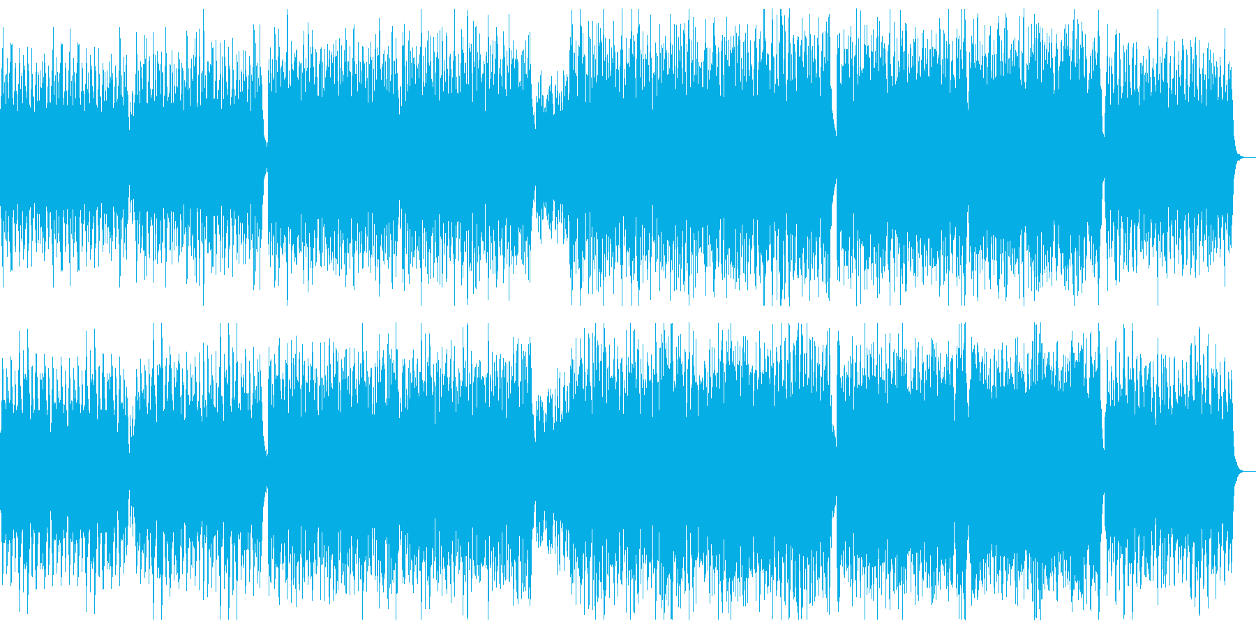楽しく遊ぶポップピアノ:ピアノと弦のみの再生済みの波形