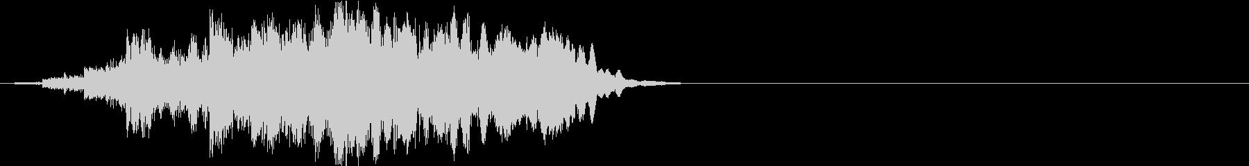ニュース ラジオ イントロ ジングル1の未再生の波形