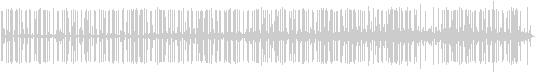 北欧系ミニマルダブテクノの未再生の波形