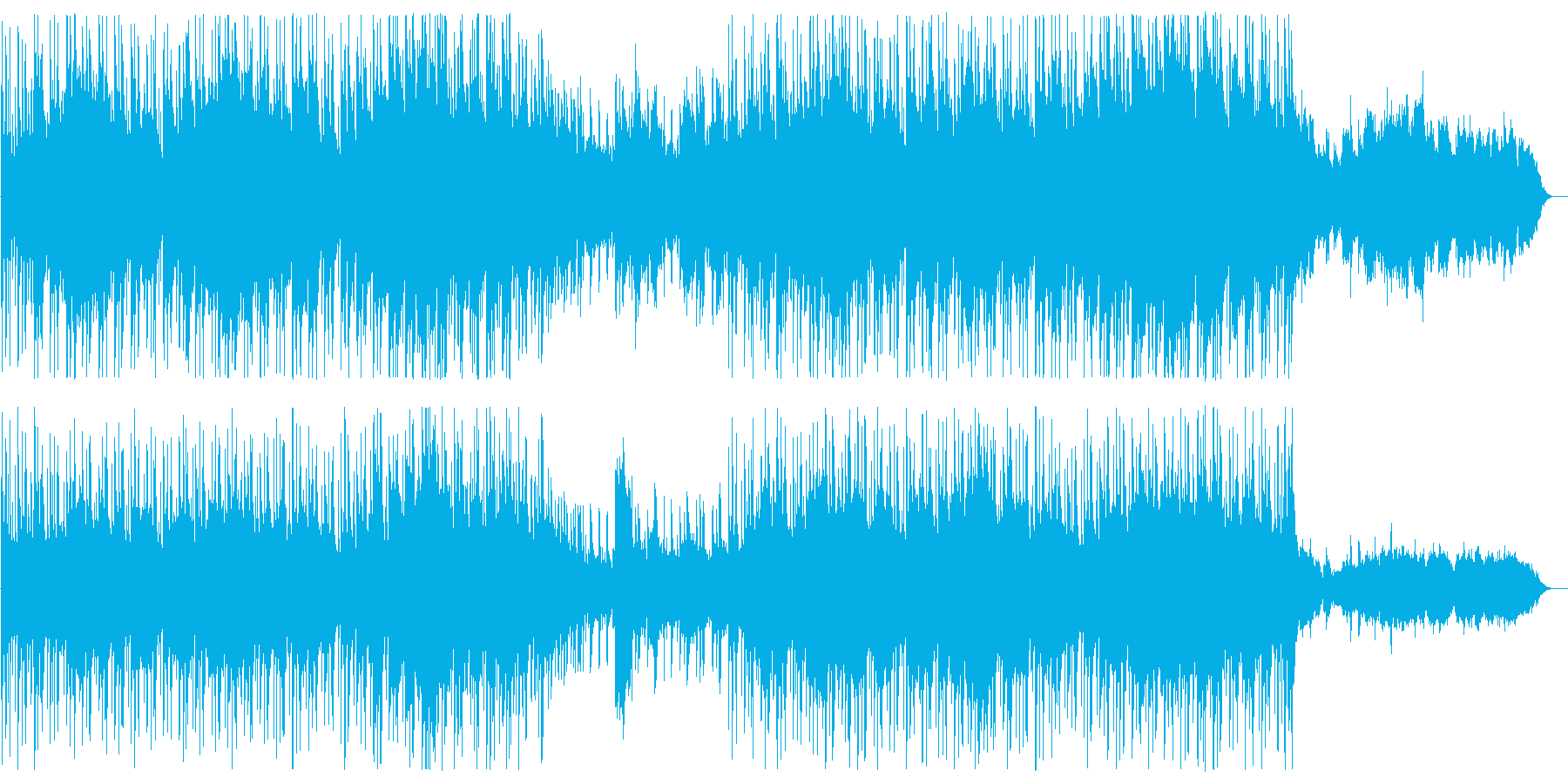 弦楽器とドラムスの壮大ポップスの再生済みの波形
